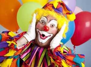 клоун и шарики