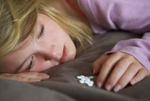 женщина, находящаяся в депрессивном состоянии