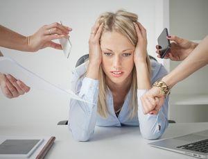 рабочие неурядицы вызвали стресс у женщины