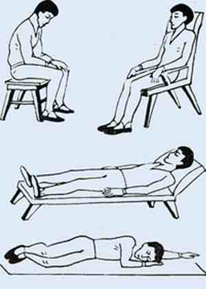 удобные положения тела для проведения аутогенной тренировки