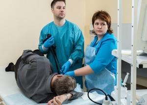 пациент на процедуре