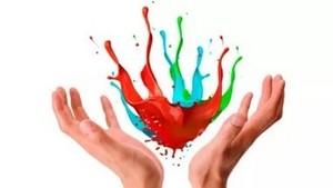 руки и краски