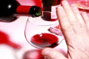 стакан вина