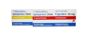 упаковки антидепрессанта