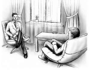 клиент на приеме у психолога