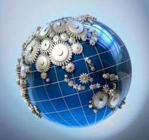 планета Земля в шестернях