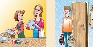 женщина - домохозяйка, мужчина - добытчик еды