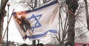 горит флаг Израиля