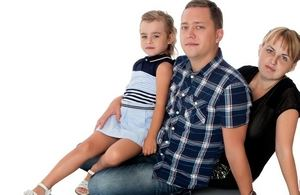 родители с дочерью