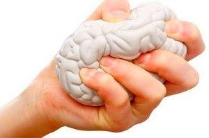головной мозг в руке